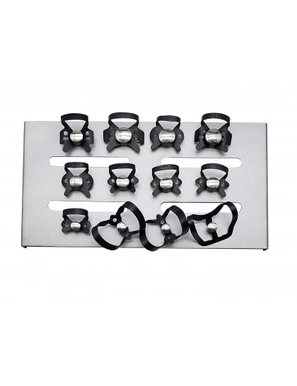 Black Rubber Dam Clamps Kit 12PCS