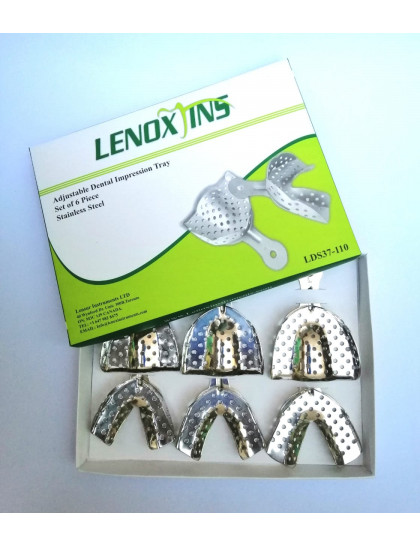 Impression Trays Dentulous Perforated Set of 6