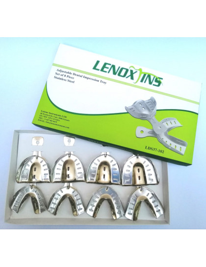 Impression Trays Dentulous Perforated Set of 8