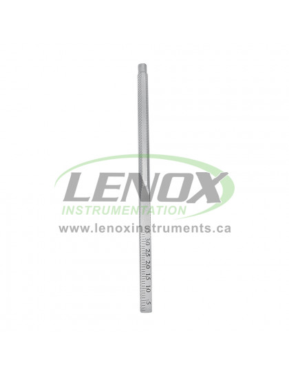 Dental Mirror Handle Stem with Ruler