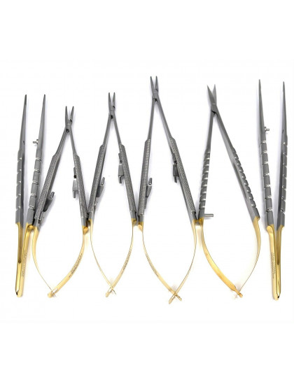 Micro Surgery Needle Holders-Scissors-Forceps Set STR