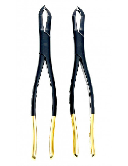 Extracting Forceps Set Fig. 88R - 88L Upper Molars BLACK-GOLD